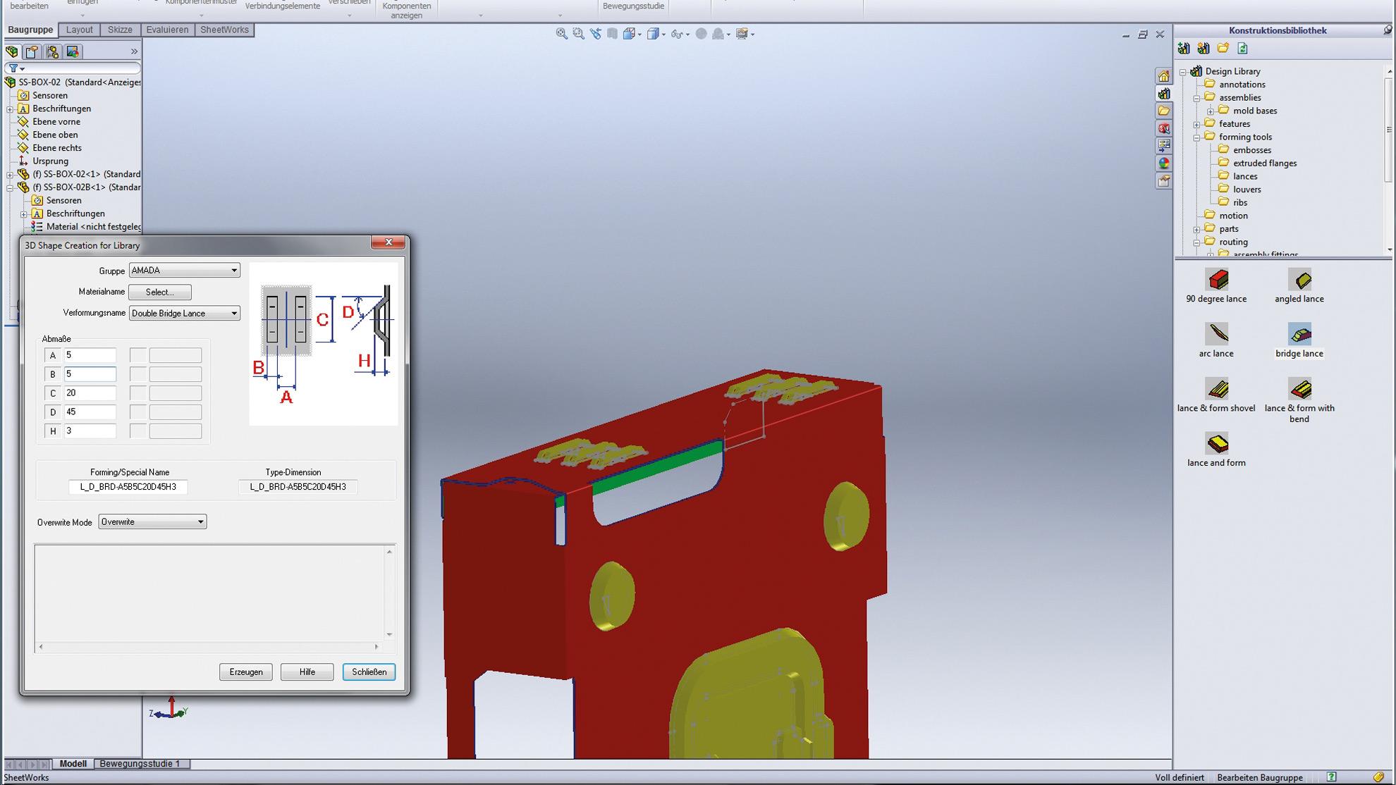 Sheet Metal processing CAD software